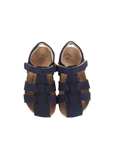 Kids A More Bangle Tek Cırtlı Deri Erkek Çocuk Sandalet  Lacivert